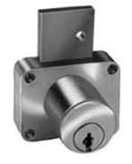 CompX C8180, Pin Tumbler Deadbolt for Drawers, Surf Mnt, Key 107, Satin Chrome