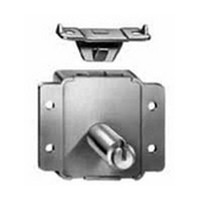 CompX C8414-KA-4G, Chest / Lid Lock, Surface Mounted, Bolt Type Internal, Engages Strike, Keyed Alike, Antique Brass
