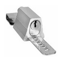 CompX C8140-101-26D, Showcase Door Lock for Glass Doors up to .22in Thick, No Bore, Keyed #101, Satin Chrome