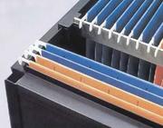 "5/8"" x 8' Pendaflex Rail for Hanging File Rail Systems, Plastic, White, Custom Pastics"