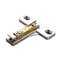 Salice BAU3E49, 4mm Die-cast Face Frame Plate, 1 Cam, Screw-on
