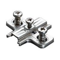 Salice B2VGH09/17, 0mm Steel Mounting Plate, Pre-mounted Euro Screws