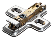 Salice BAV3E39F 3mm Clip-On Hinge Mounting Plates, Cam Depth Adjustment,  Wood Screws