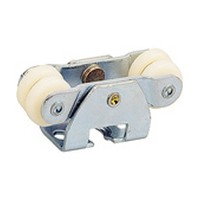 Hettich 113 333 900, Sliding By-Pass Door Steel Carriers, 1-3/16 W x 27-32 H x 2-3/4 L