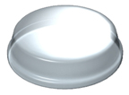 Grass 31004-43 Round Polyurethane Bumpers, Self-Adhesive, 7/16 dia. x 1/16 Height, Clear, 500-Pack