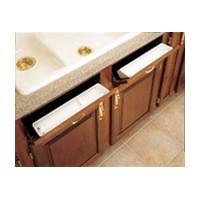 Rev-A-Shelf 6581-14-15-4-240 Bulk-40, 14 L Polymer Sink Tip-Out Trays Only, Bulk-Pk, Standard Series, Almond, 40 Standard Trays, No Tabs