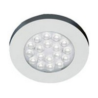 Hera 1.2W ER-LED Series LED Puck Light, Warm White, Stainless Steel, ERLEDSS/WW