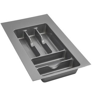 "Plastic Cutlery Drawer Insert 11-1/2"" W Glossy Silver  Rev-A-Shelf  GCT-1S-52"