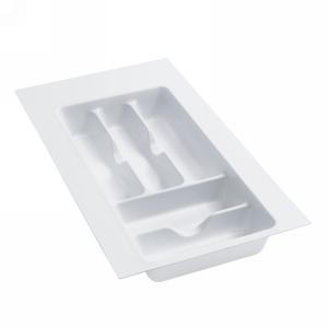 "Plastic Cutlery Drawer Insert 11-1/2"" W Glossy White  Rev-A-Shelf  GCT-1W-10"