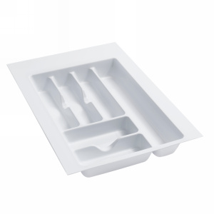 "14-1/4"" Cutlery Drawer Insert, Plastic, Glossy White, Rev-a-shelf  GCT-2W-20"