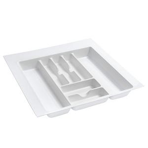 "21-7/8""W Cutlery Drawer Insert, Plastic, Glossy White, Rev-a-shelf  GCT-4W-10"