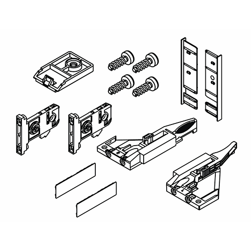 Grass F136100278517, Vionaro H89 Inset Drawer Accessory Set, Graphite