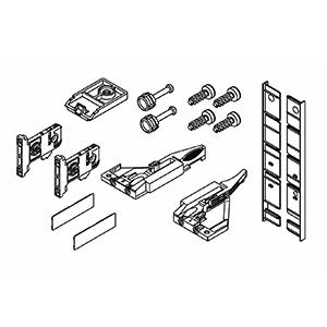 Grass F136100319517, Vionaro H185 Inset Drawer Accessory Set, Graphite