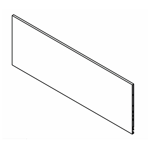 "Grass F136122669507, Vionaro H185 Inset Front Panel (Cut-to-length up to 45-11/16""), Silver Gray"