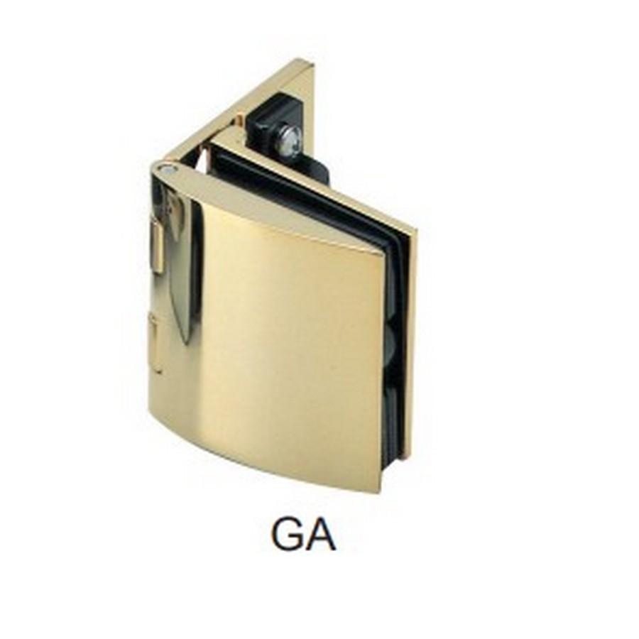 Inset Glass Door Hinge with Catch Gold Sugatsune GH-450-GA