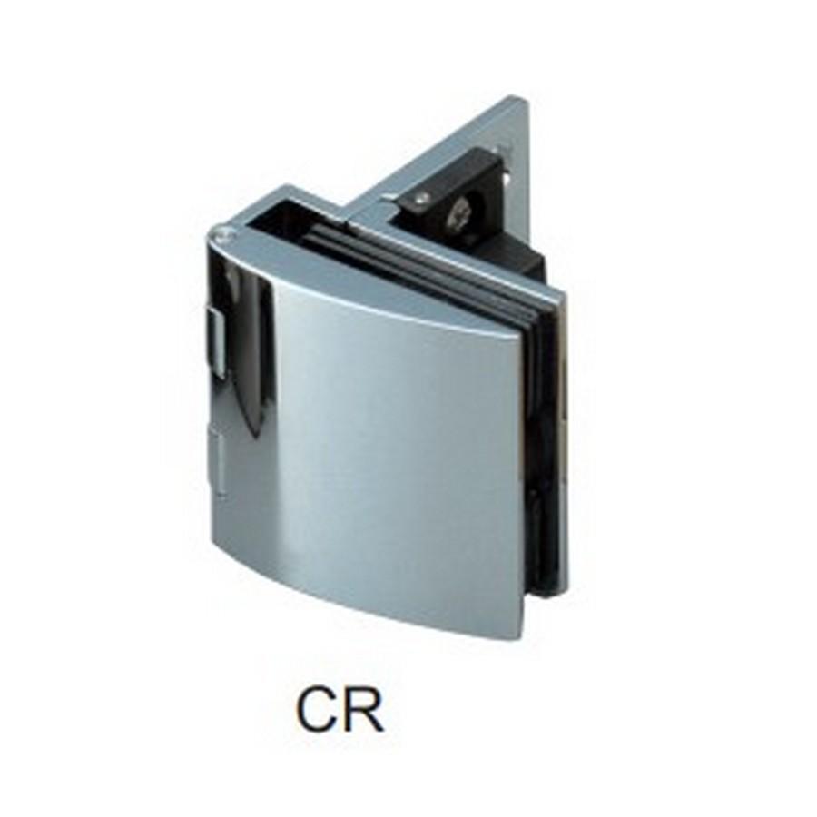 Overlay Glass Door Hinge with Catch Chrome Sugatsune GH-456C-CR