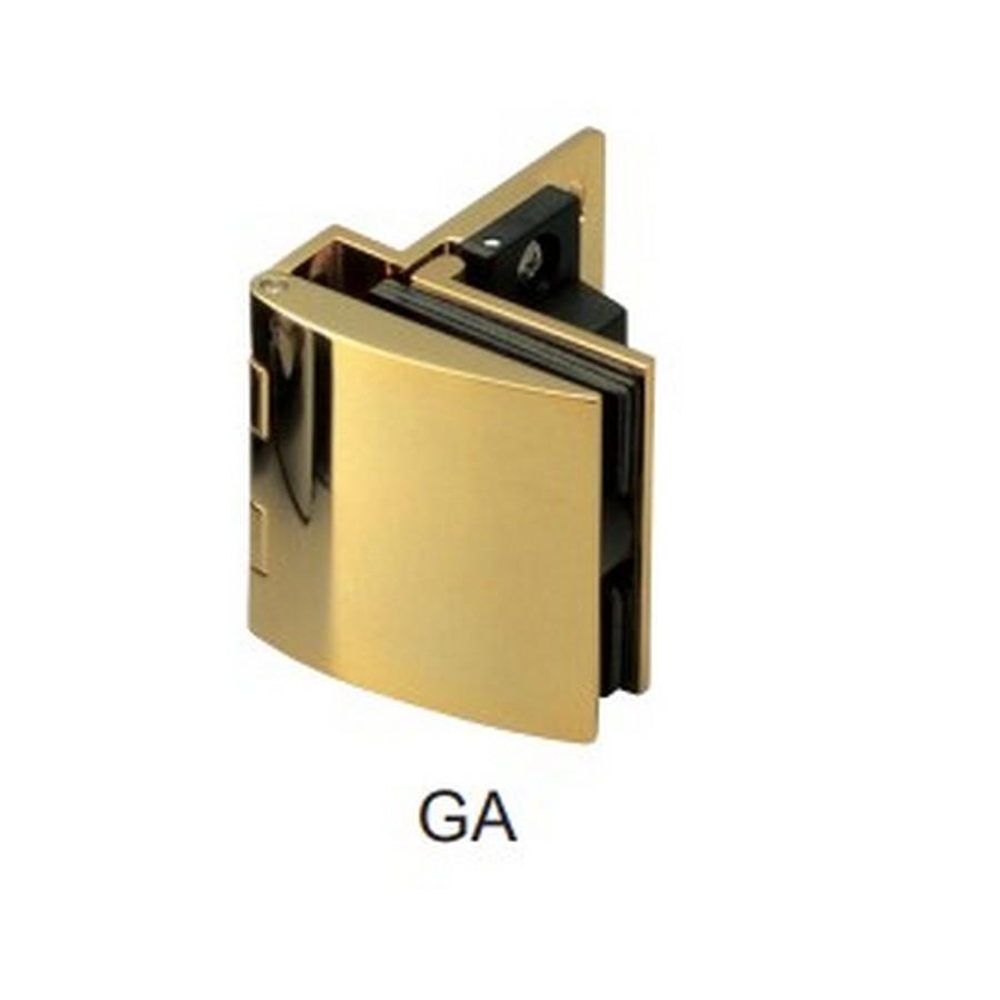 Overlay Glass Door Hinge with Catch Gold Sugatsune GH-456C-GA