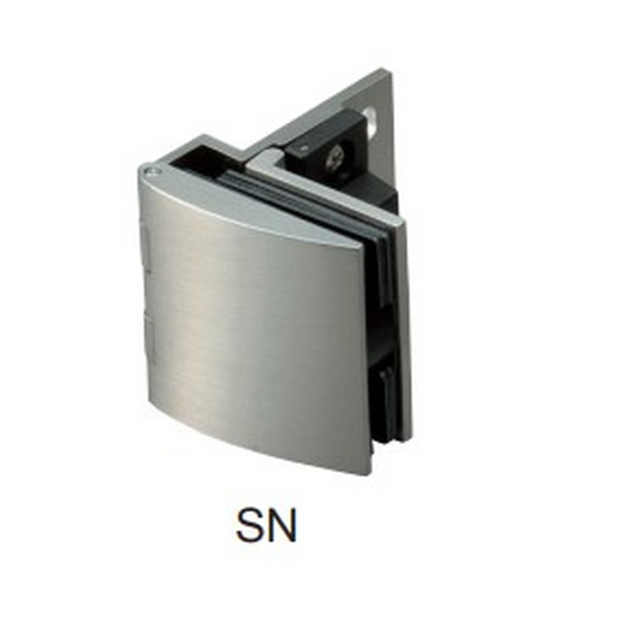 Overlay Glass Door Hinge with Catch Nickel Sugatsune GH-456C-SN