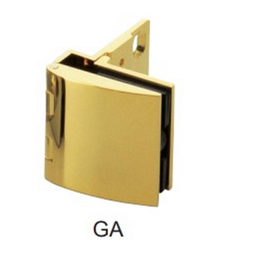Overlay Glass Door Hinge No Catch Gold Sugatsune GH-456N-GA
