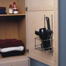 KV GR12-FN, Grooming Rack on Vanity Cabinet Door, KV Series, Frosted Nickel, 9-3/16 W x 5-1/4 D x 16-1/2 H,, Knape and Vogt