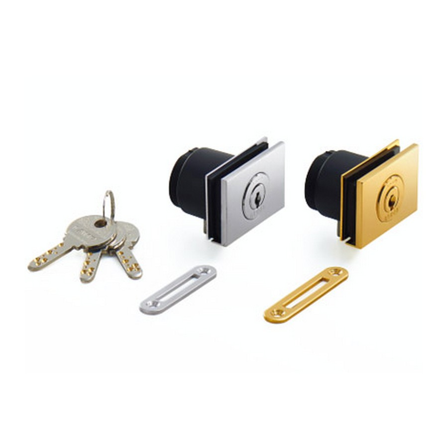 GS-GL5 Rectangular Glass Door Cam Lock KA Black Sugatsune GS-GL5-BL-G1001