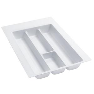 Rev-A-Shelf GUT-12W-20, 14-1/4 Polymer Utility Tray Drawer Insert, Glossy White, Min Trim Size: 11-5/8 W x 17-3/4 D