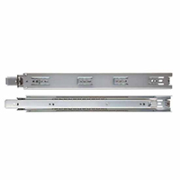 "KV GS4200 10, 10"" 100lb Economy Side Mount Ball Bearing Full Ext Drawer Slide, Anochrome, Knape and Vogt"