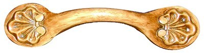 Grand River HNDL-11H-A, Shell Horizontal Alder Wood Pull, Unfinished, Shell Horizontal Collection