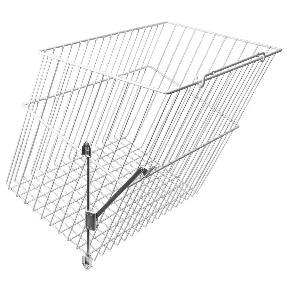 KV HS192113W-470FS, 21 W Tilt-Out Wire Hamper Basket, White, Knape and Vogt