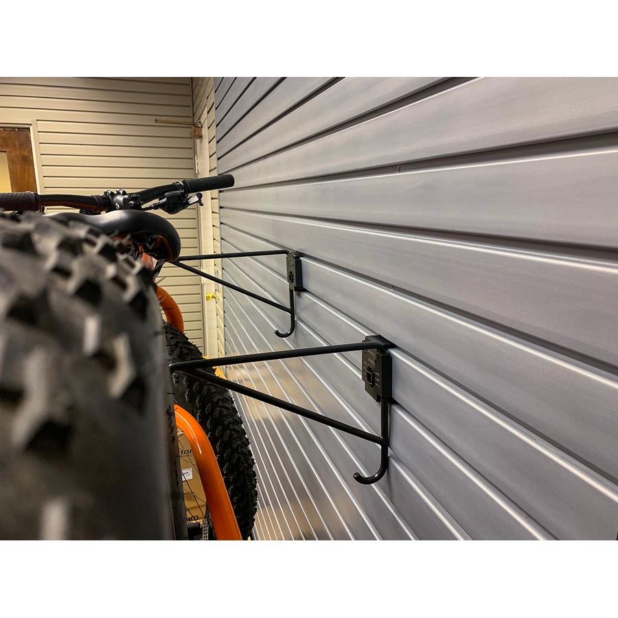 HandiACCESSORIES Horizontal Bike Hooks with Lock Black HandiSOLUTIONS HSHBHWL
