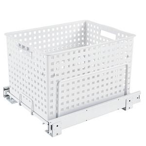 Polymer Pullout Hamper/Utility Basket White Rev-A-Shelf HURV-1512 S