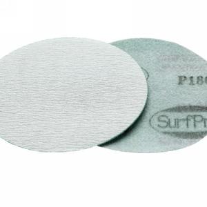 """SurfPrep 5"""" Film Abrasives Disc, 180 Grit, Aluminum Oxide, PSA"""