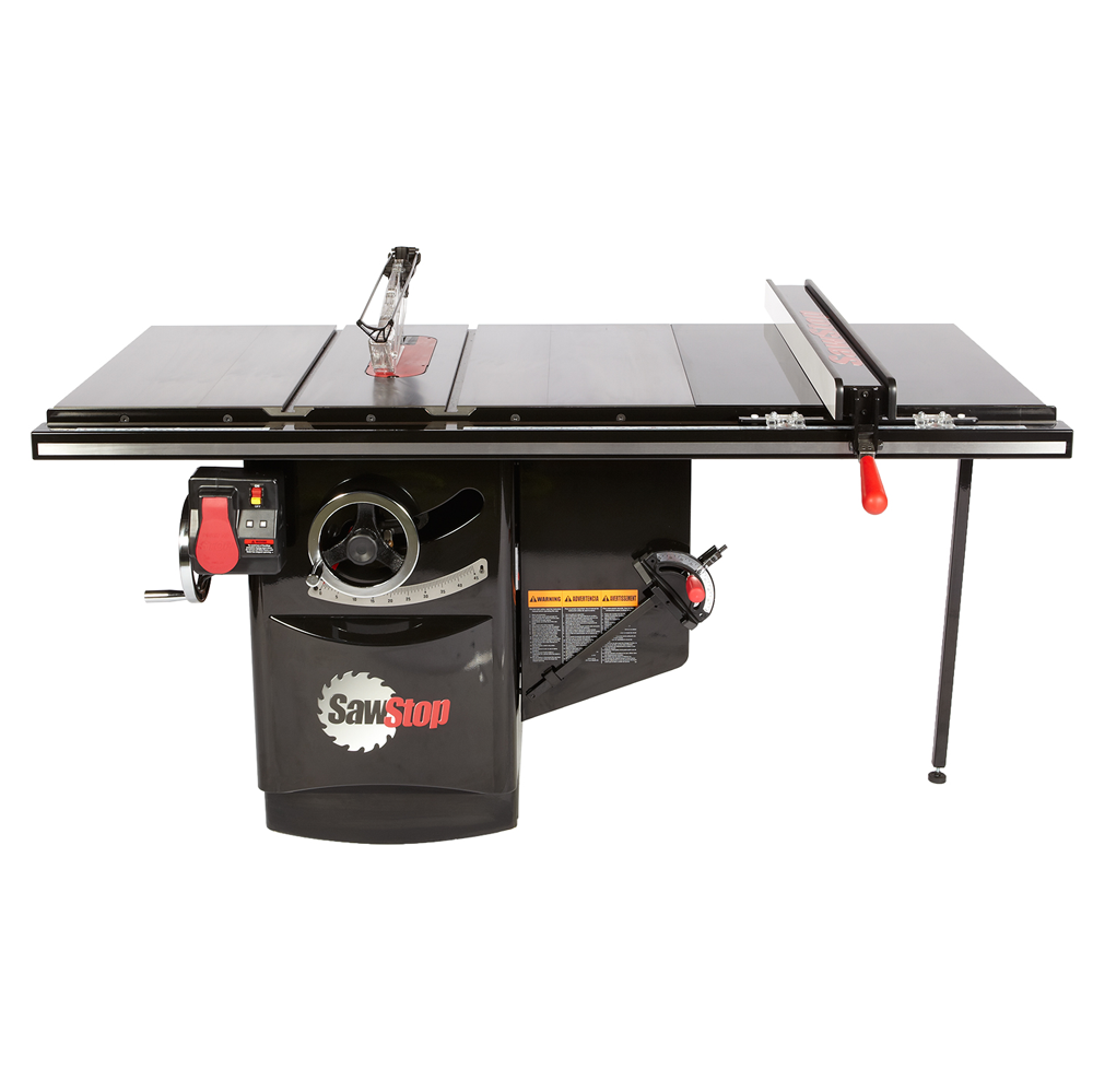 """SawStop Industrial Cabinet Saw, 5hp 3ph 230v with 36"""" T-Glide Fence Assembly ICS53230-36"""