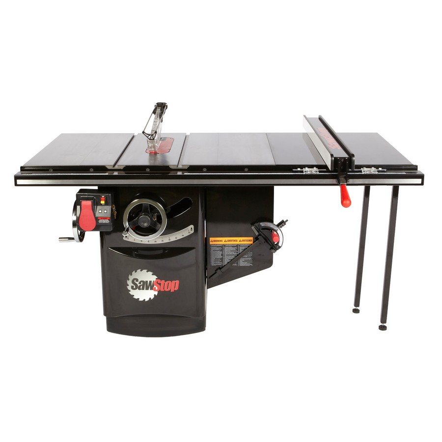 "SawStop Industrial Cabinet Saw, 5hp 1ph 230v with 36"" T-Glide Fence Assembly ICS51230-36"