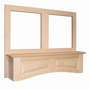 "Omega National 36"" Wide Accent Arched Wall Hood with Liner for Broan, Maple, R5136SMB1MUF1"