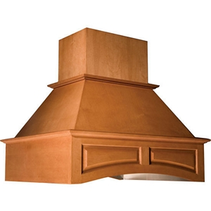 "Omega National 36"" Wide Arched Island Hood , Hickory, RI2636HUF1"
