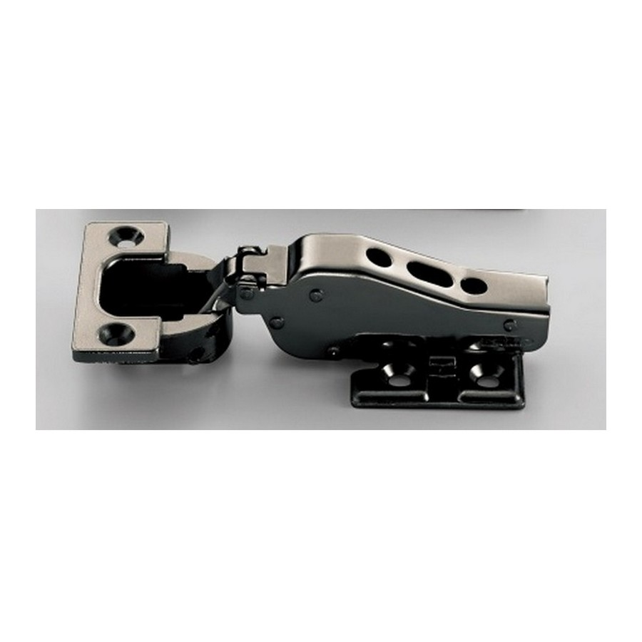 Heavy-Duty European Hinge 16mm Overlay Free Swing Black Nickel Sugatsune J95-24-16T-BN