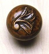 Grand River KNB-1A-O, Acanthus Leaf Large Oak Wood Knob, Unfinished, Acanthus Leaf Large Collection