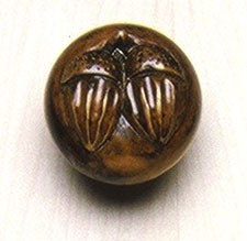 Grand River KNB-2A-B, Acorn Large Linden Wood Knob, Unfinished, Acorn Large Collection