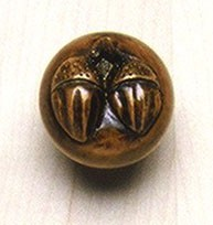 Grand River KNB-2B-C, Acorn Small Cherry Wood Knob, Unfinished, Acorn Small Collection