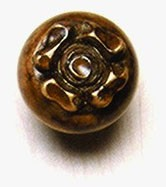 Grand River KNB-6B-B, Flower Small Linden Wood Knob, Unfinished, Flower Small Collection