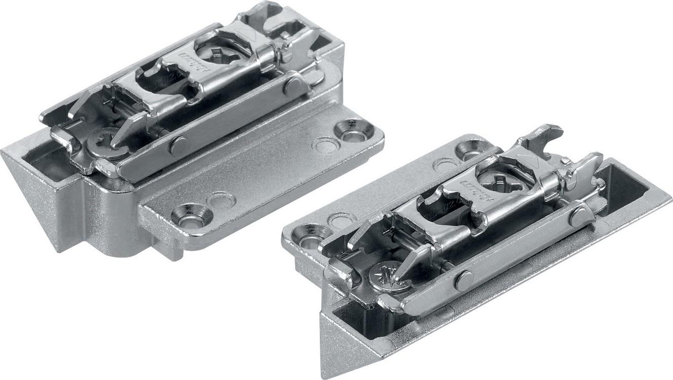 Blum 20K4A00A02 AVENTOS HK-S Lever Arm Mounting Plates, Narrow Aluminum Doors