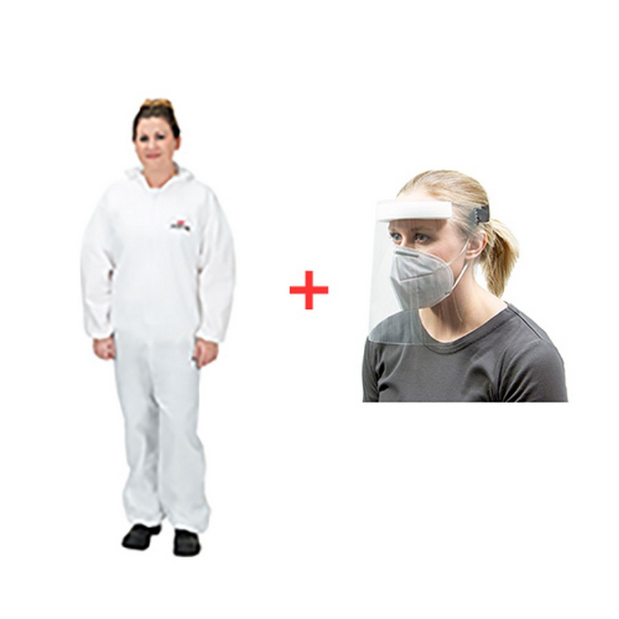 Emergency Kit Size 4XL - Coveralls and Face Shield WE Preferred EMERGENCYKIT14XL