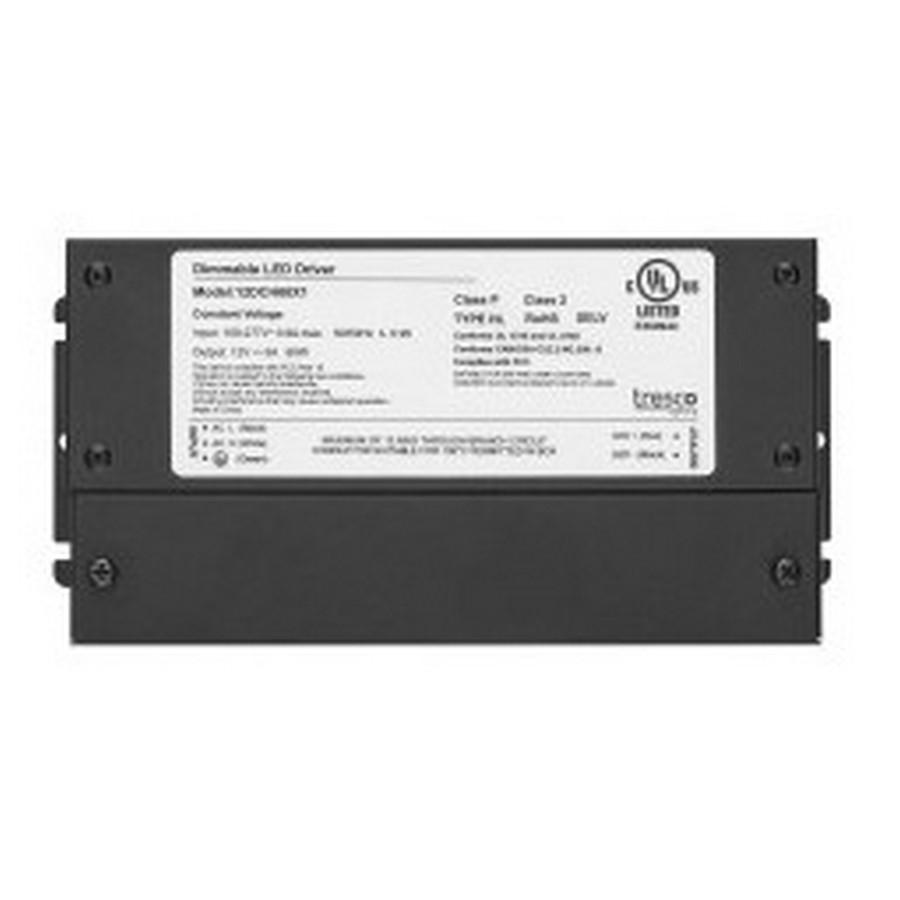 12VDC 60W Hardwire Power Supply Black Tresco L-12DCH60X1-1