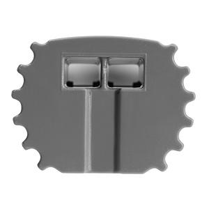 Tresco Infinex Round End Cap Starter/Link, Gray, L-XRNDECP-GY-1
