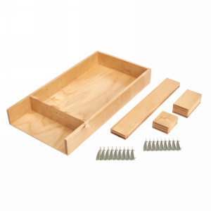 "Small Adjustable Wood Cutlery Drawer Insert Kit 9-7/8"" W Maple Rev-A-Shelf  LD-4CT15-1"