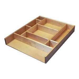 "15-3/8"" Cutlery Drawer Insert, Wood, Wood, Rev-a-shelf  LD-4CT21-1"