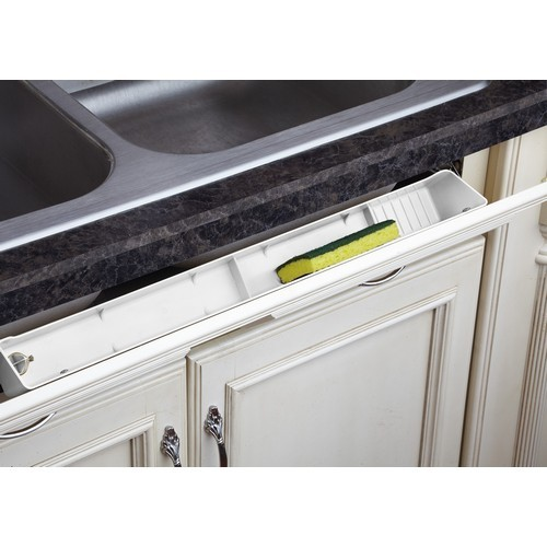 Rev-A-Shelf LD-6591-30-11-1 30in Polymer Sink Tip-Out Tray Set, White