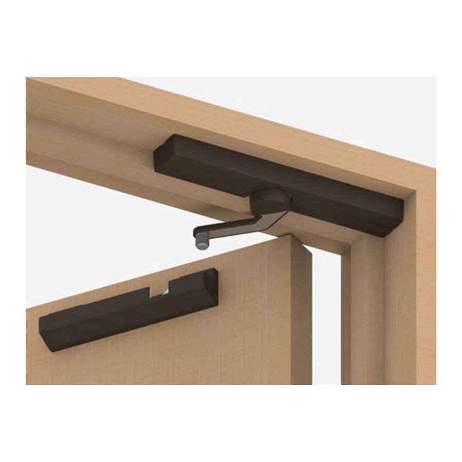 Lapcon Door Damper Surface Mount Right Hand Dark Brown Sugatsune LDD-S-R/DBR