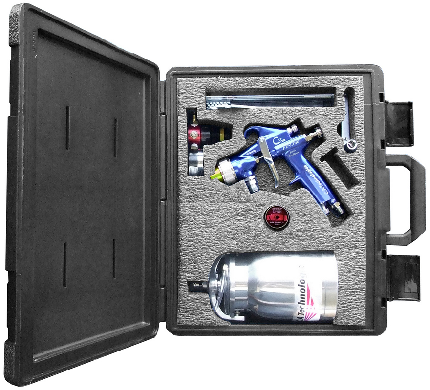 CA Tech CPR-FE-303R2, HVLP/Compliant Pres Red Gun Kit, 1Qt Pressure Cup with Regulator